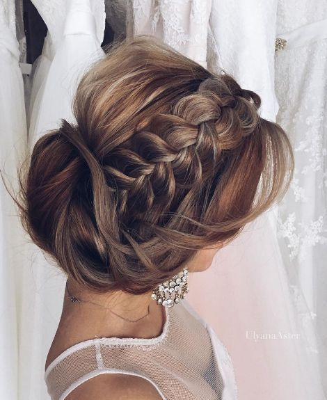 Wedding updo hairstyle idea 10 via Ulyana Aster - Deer Pearl Flowers / www.deerp...