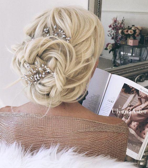 Wedding updo hairstyle idea 7 via Ulyana Aster - Deer Pearl Flowers / www.deerpe...