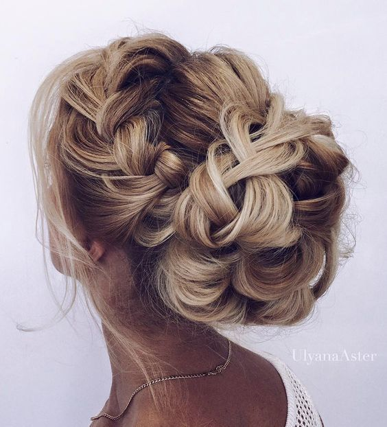 Wedding updo hairstyle idea 8 via Ulyana Aster - Deer Pearl Flowers / www.deerpe...
