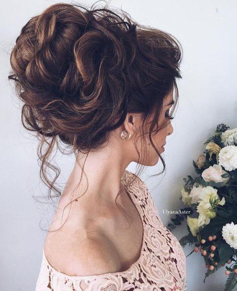 Wedding updo hairstyle idea 9 via Ulyana Aster - Deer Pearl Flowers / www.deerpe...
