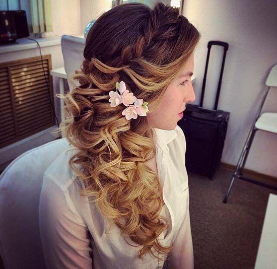 braided wavy bridal hairstyle via antonina roman - Deer Pearl Flowers / www.deer...