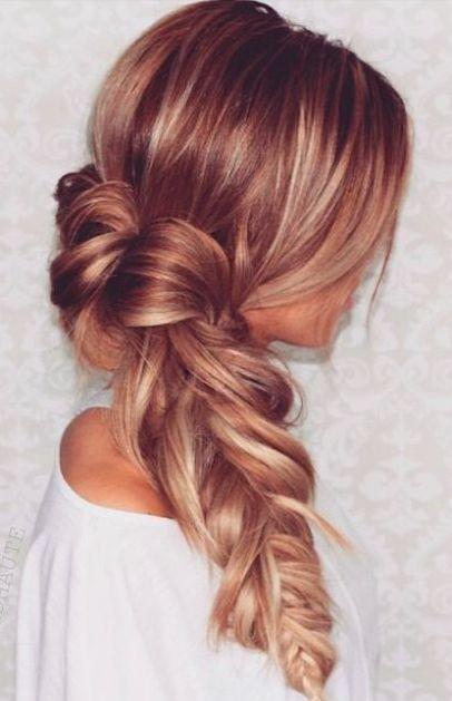 braided wedding hairstyle - Deer Pearl Flowers / www.deerpearlflow...