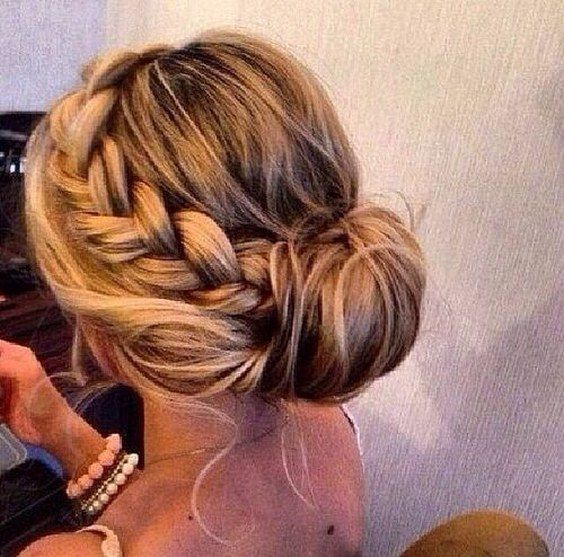 braided wedding updo hairstyle / www.himisspuff.co...