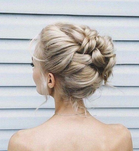 braided wedding updo idea / www.himisspuff.co...