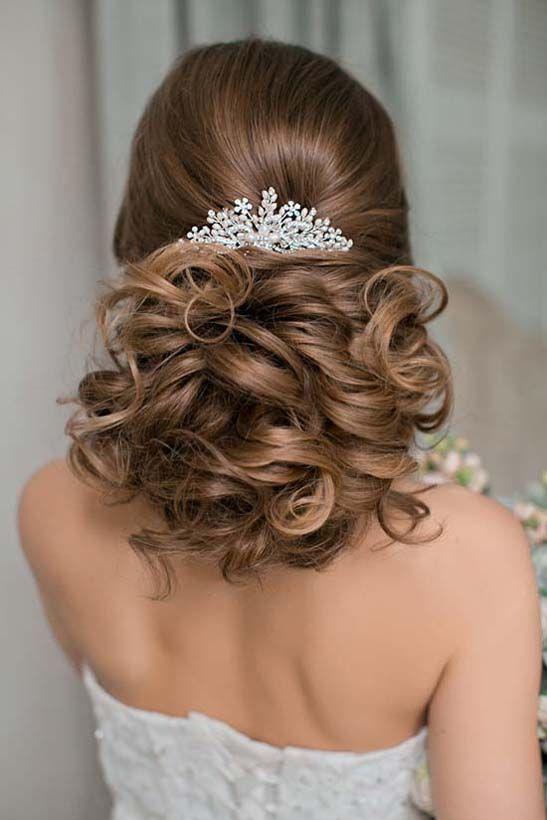 Bridal Hairstyles : curly updo wedding hairstyles via olga larionova ...