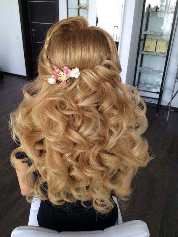 35 Trendiest Half Up Half Down Wedding Hairstyle Ideas | Deer Pearl Flowers - Pa...