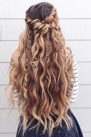 long braided wedding hairstyle via glambytoriebliss - Deer Pearl Flowers / www.d...