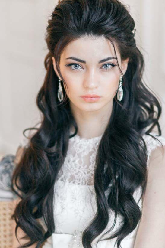 Bridal hairstyles long wavy wedding hairstyles 4 via yuliya long wavy wedding hairstyles 4 via yuliya vysotskaya deer pearl flowers junglespirit Gallery