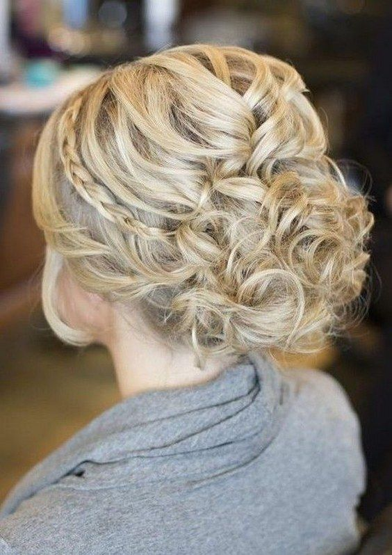 Bridal Hairstyles : loose messy updo wedding hairstyle / www ...
