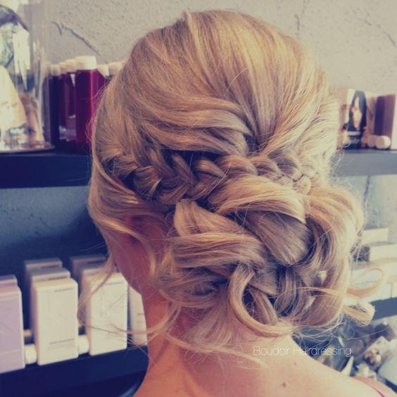 low bun relaxed hair up braids wedding hairstyles - Deer Pearl Flowers / www.dee...