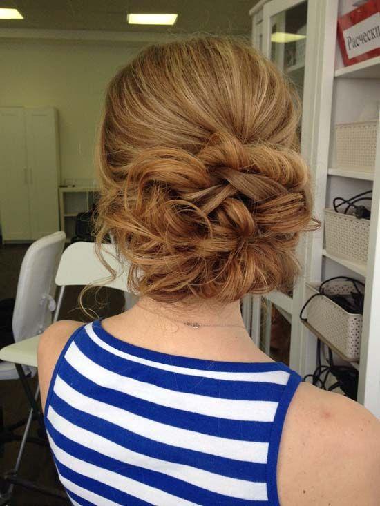 messy wedding updo hairstyle via olga larionova - Deer Pearl Flowers / www.deerp...