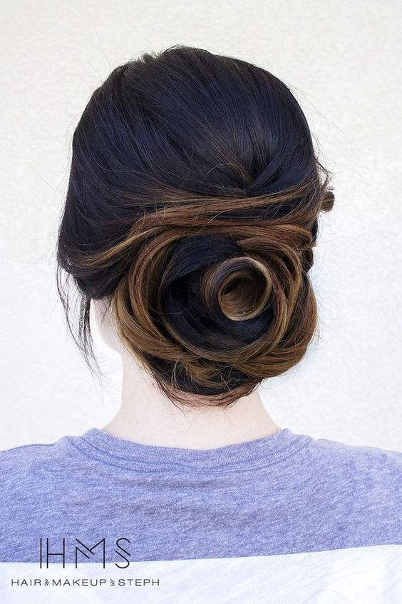wedding updo hairstyle via Hair and Makeup by Steph 5 - Deer Pearl Flowers / www...