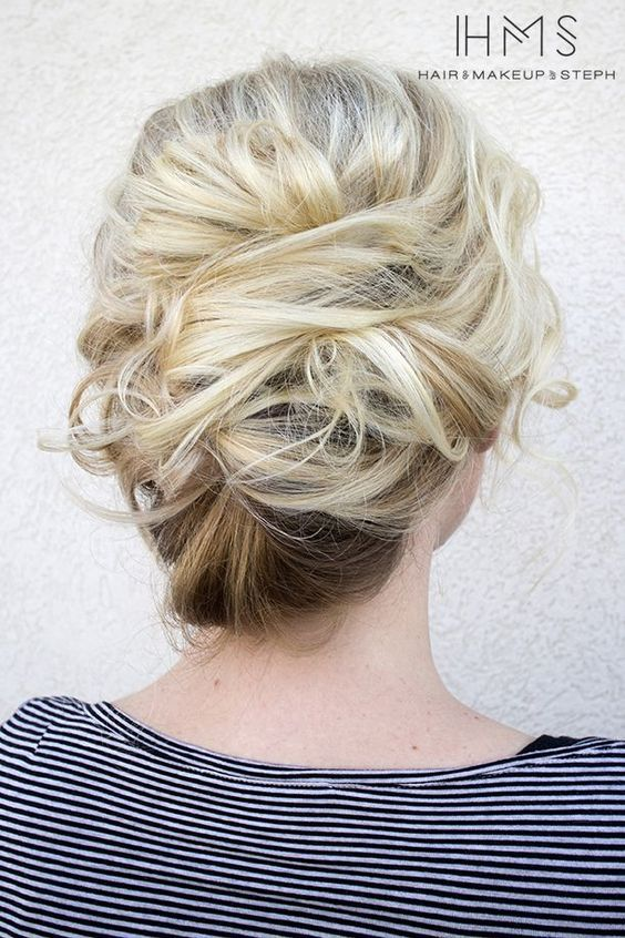 wedding updo hairstyle via Hair and Makeup by Steph 6 - Deer Pearl Flowers / www...
