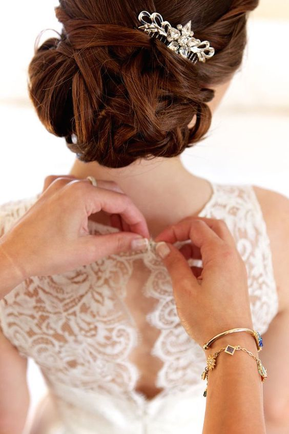 wedding updo hairstyle via Love Days Photography - Deer Pearl Flowers / www.deer...