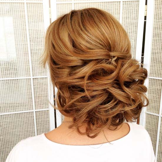 wedding updo hairstyle via olga larionova - Deer Pearl Flowers / www.deerpearlfl...
