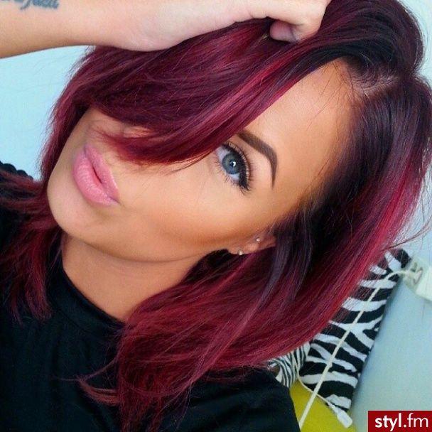 Trendy Hair Color Highlights Fryzury średnie Włosy