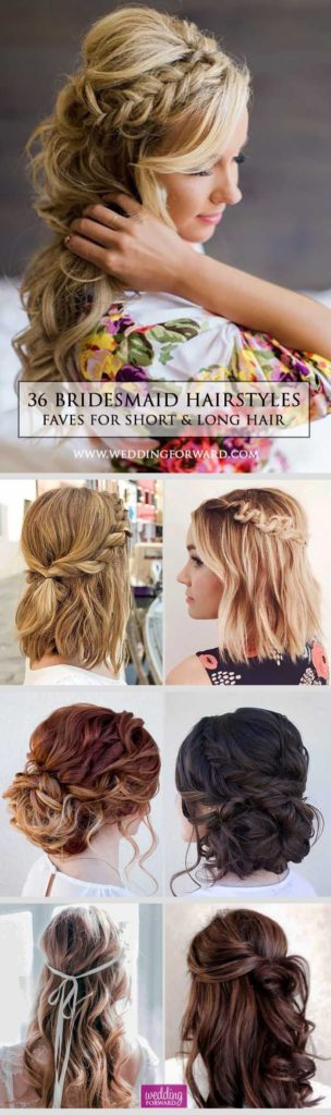 Bridal Hairstyles 36 Hottest Bridesmaids Hairstyles For Short Or Long Hair Thinking About Brid Jpg Beauty Haircut Home Of Hairstyle Ideas Inspiration Hair Colours Haircuts Trends
