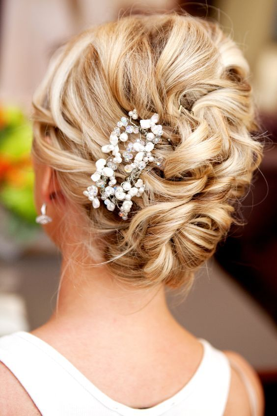 Bridal Hairstyles Natural Loose Wedding Updo Hairstyle Deer