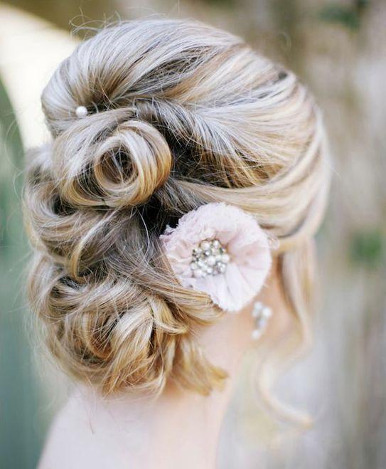 twisted wedding updo hairstyle via The Leekers - Deer Pearl Flowers / www.deerpe...
