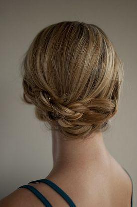 Pretty braid updo / Braids #hair