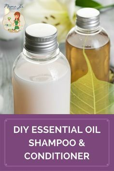 Keep you hair smooth, silky, and shiny with this DIY Essential Oil Shampoo and C...
