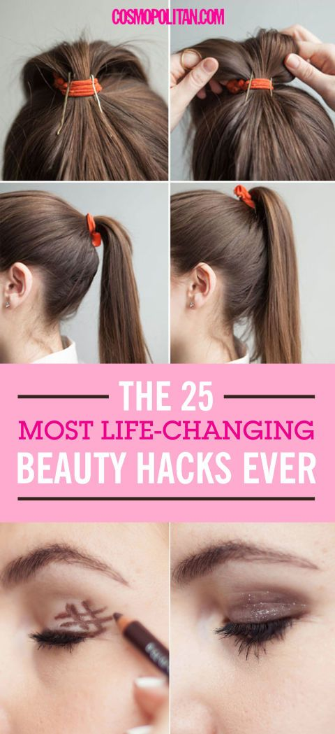 The 25 Most Life-Changing Beauty Hacks Ever - From Cosmopolitan | Glamour Shots