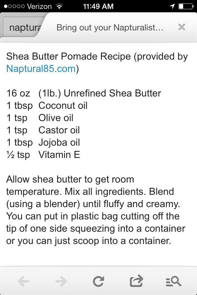 shea butter mixture naptural85 - Google Search