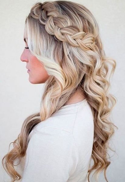 Braids can be equally perfect for everyday or elegant occasions. This side one w...