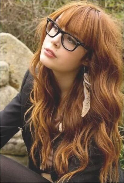 Nerdy looks combined with bangs and waves look nothing less but perfect! #wavyha...