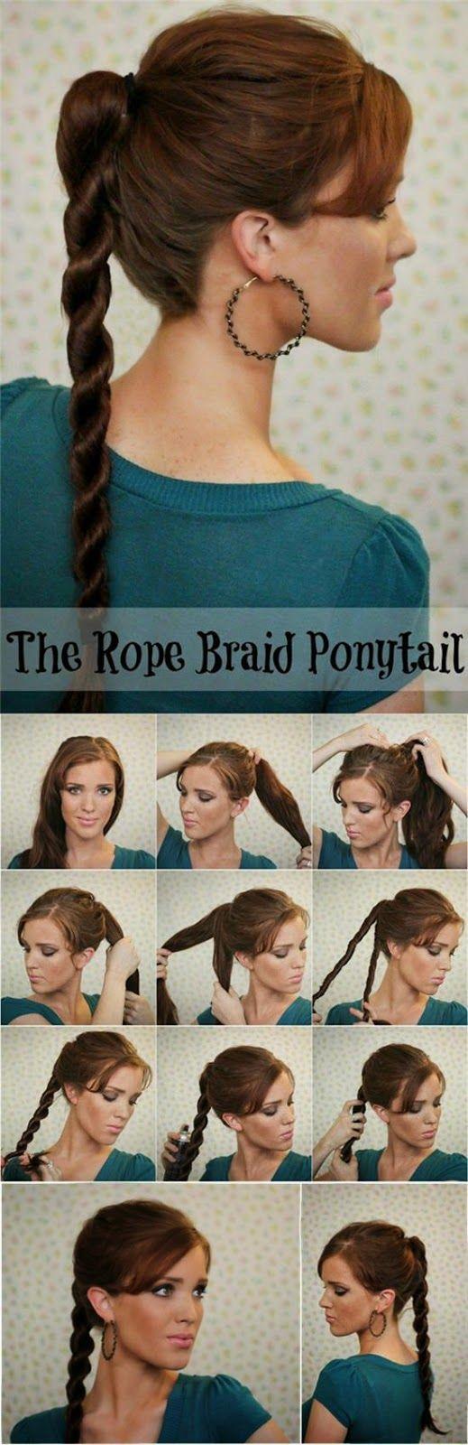 10 Idées de coiffures faciles à faire ~ Photo coiffure simple - coupe cheveux ...