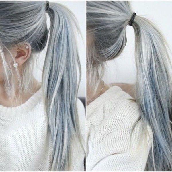 Hairstyle Tresses Les Cheveux Gris Sont A La Mode Chez Les Jeunes