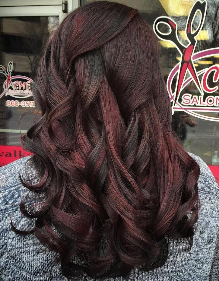 Red Hair Color Black Hair With Subtle Red Highlights Beauty