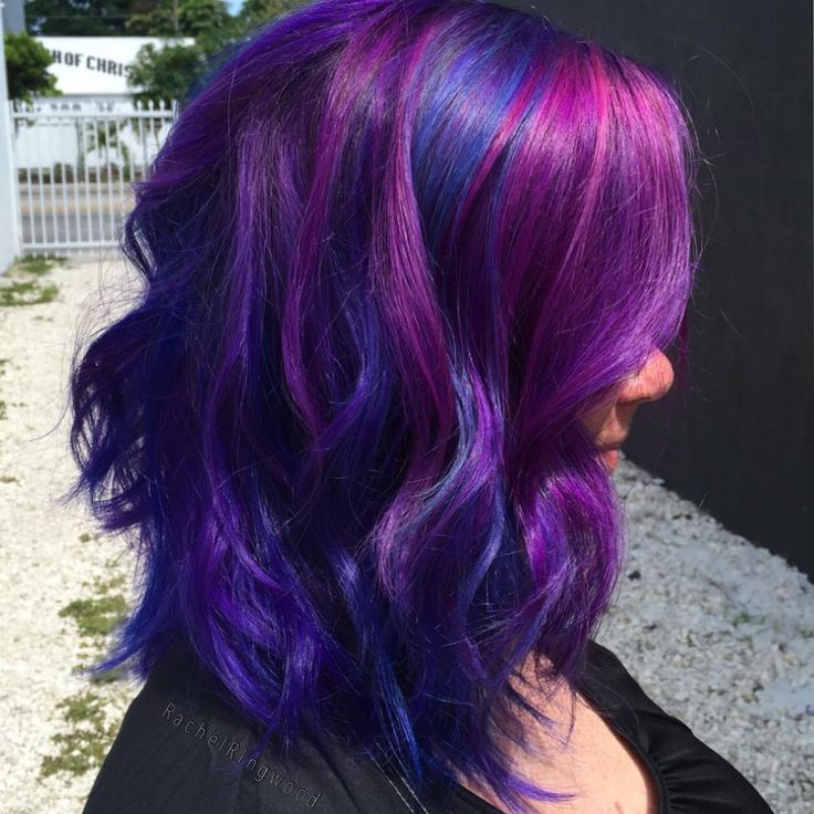Red Hair Color Blue And Purple By Rachel Ringwood Beauty Haircut