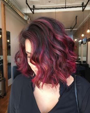 Red Hair Color Magenta Flare Mas