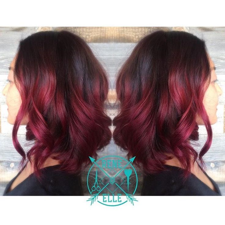 Magenta maroon hair. My new winter hair