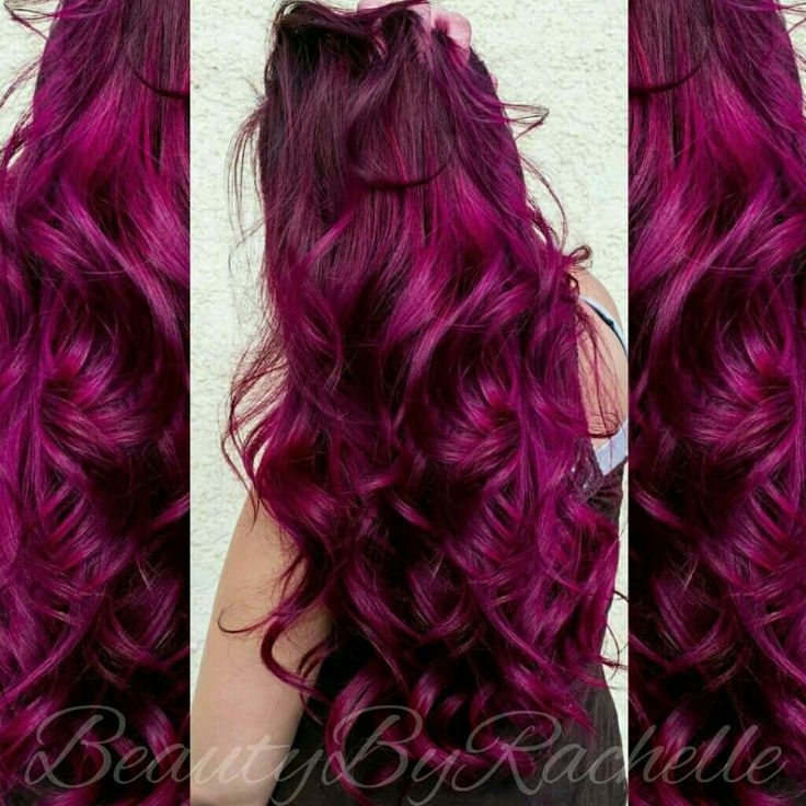 My perfect hair color  Joico's Magenta, Amethyst Purple & Hot pink mixed tog...
