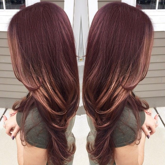 RED BROWN GOLD FALL HAIR HAIRCOLOR BALAYAGE SOMBRÉ OMBRÉ HIGHLIGHT _ajquinones...