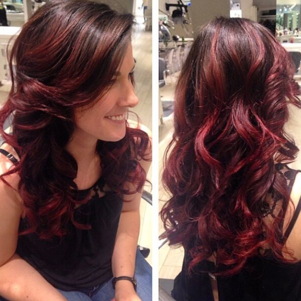 Red Hair Color Red Hair Red Highlights Ombr Balayage Red