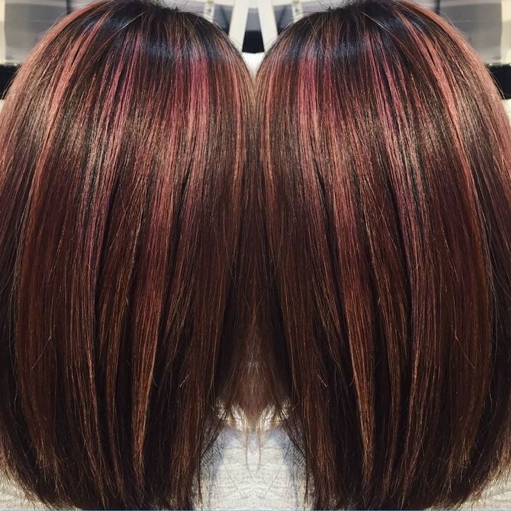 Red Hair Color Rose Gold Highlights Beauty Haircut Home Of
