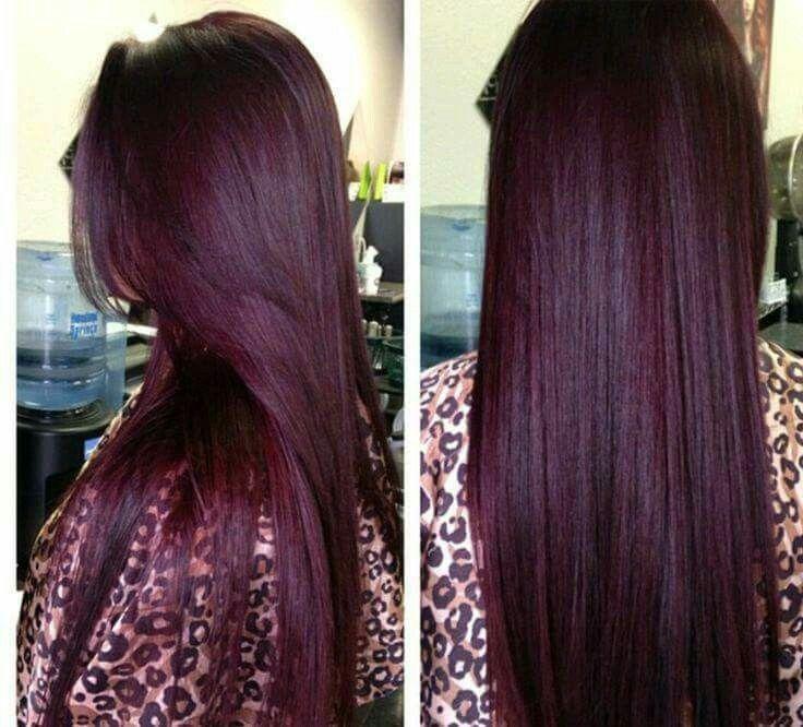 Red Hair Color Tono Rojizo Violeta Beauty Haircut Home Of