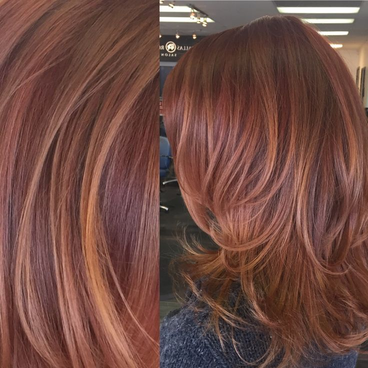 Red Hair Color Trendy Hair Highlights Red And Copper Toned