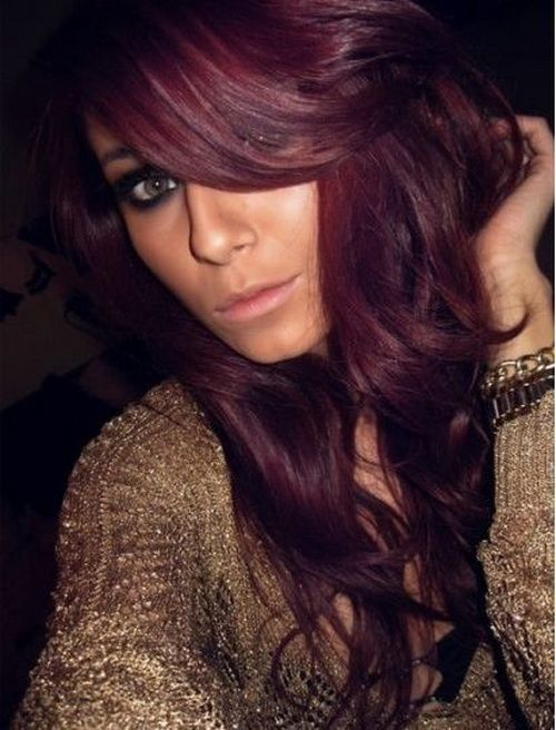 Red Hair Color Brunette Hair With Burgundy Highlights Download