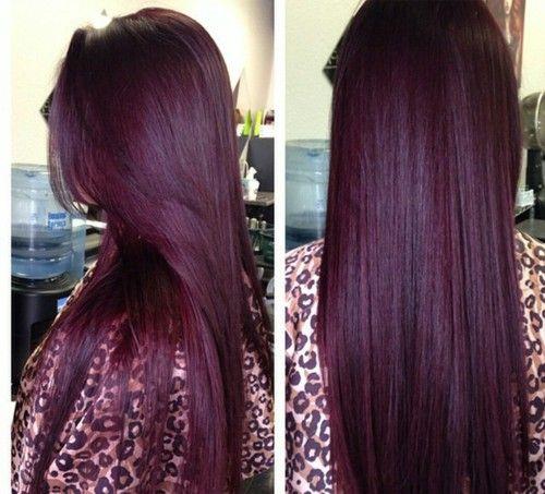 burgundy, hair, and burgundy hair image