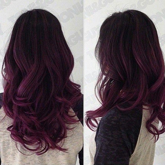 Trendy Hair Color Highlights Sultry Dark Magenta