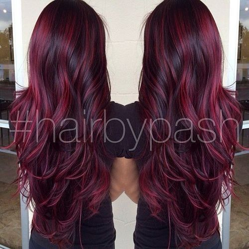 ♥  I love this color I want it with blonde on top though and this color streak...