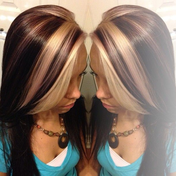 Trendy Hair Color Highlights Bold Blonde Chunks Perfect For A