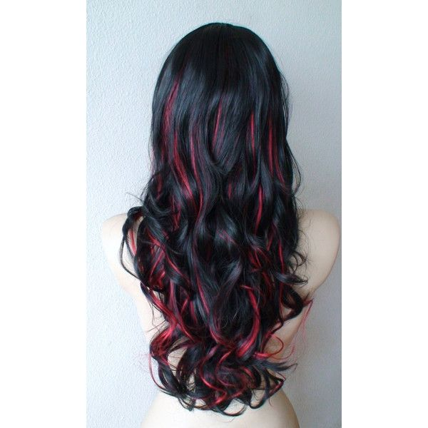 Trendy Hair Color Highlights Anniversary Special Black Red
