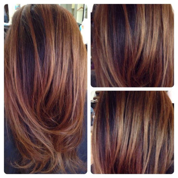Trendy Hair Color Highlights Balayage On Dark Hair Love Doing