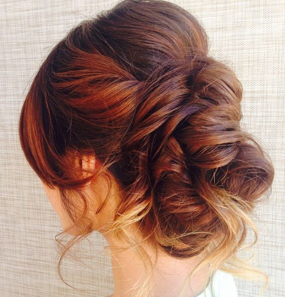 Trendy Hair Color Highlights Beautiful Updo For A Bride Or Other