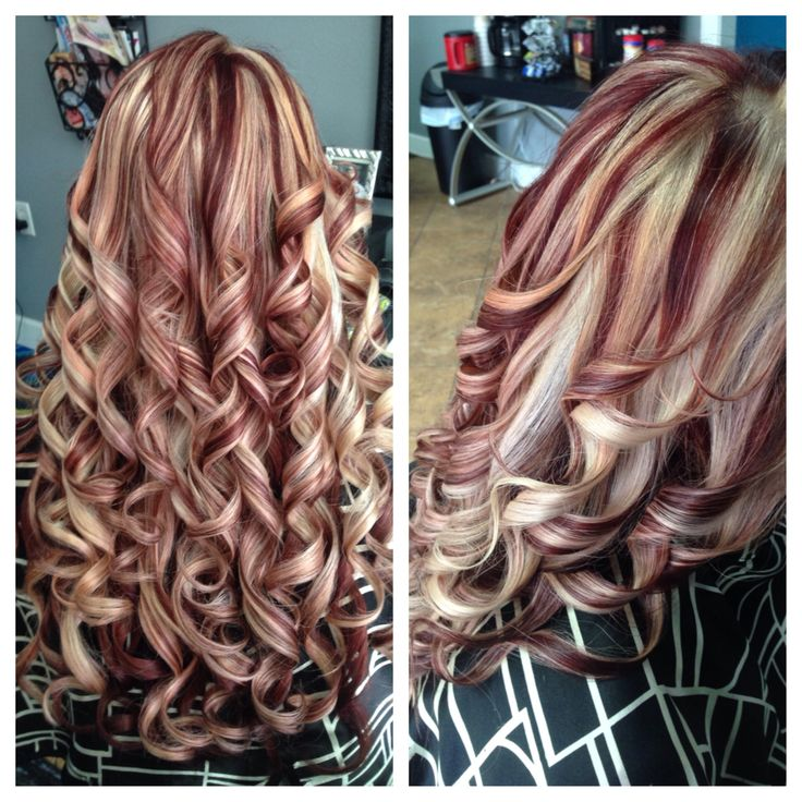 Trendy Hair Color Highlights Blonde Highlights Red Lowlights